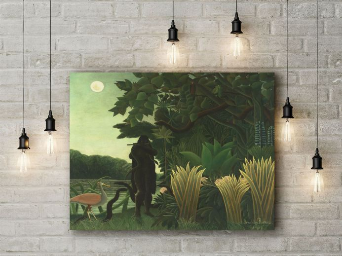 Henri Rousseau: The Snake Charmer. Fine Art Canvas.